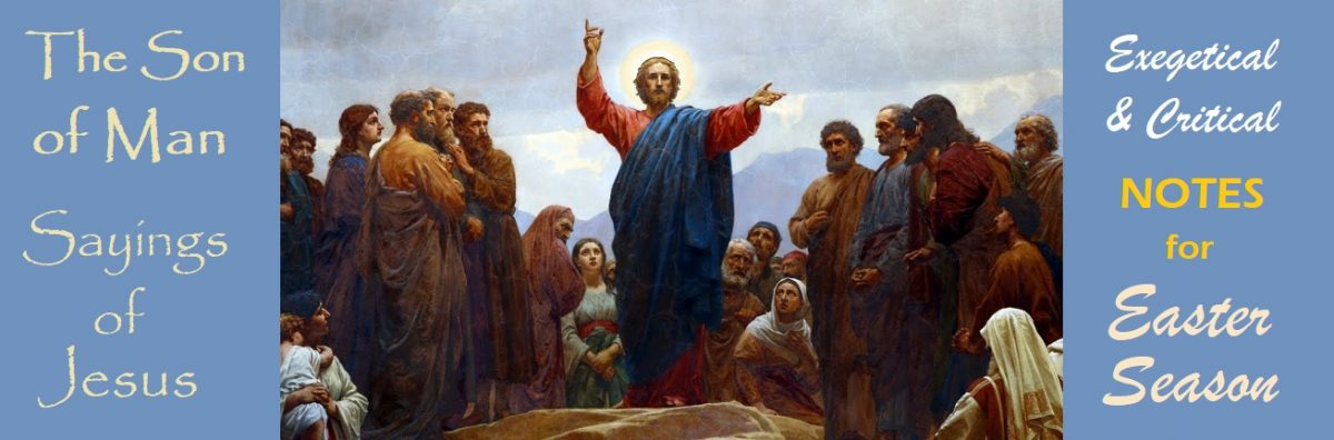 The Son of Man Sayings: Introduction